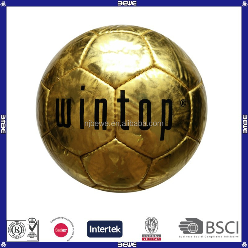 Wholesale 32 panels mirror surface leather pu soccer balls