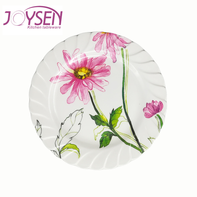 Top quality custom print round melamine dinnerware large plastic plate  sc 1 st  Alibaba & Buy Cheap China plastic melamine plate Products Find China plastic ...