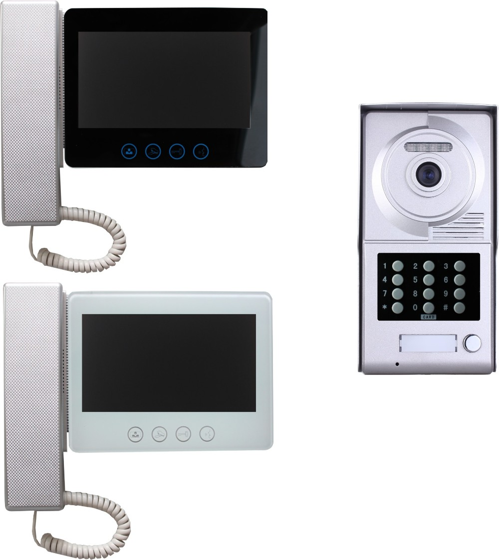 Best Price Home Intercom System Handset Talk Color Villa Wired Video Door Phone
