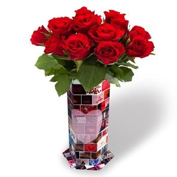 Valentines Day Flower Paper Vasefoldable Paper Vasewaterproof