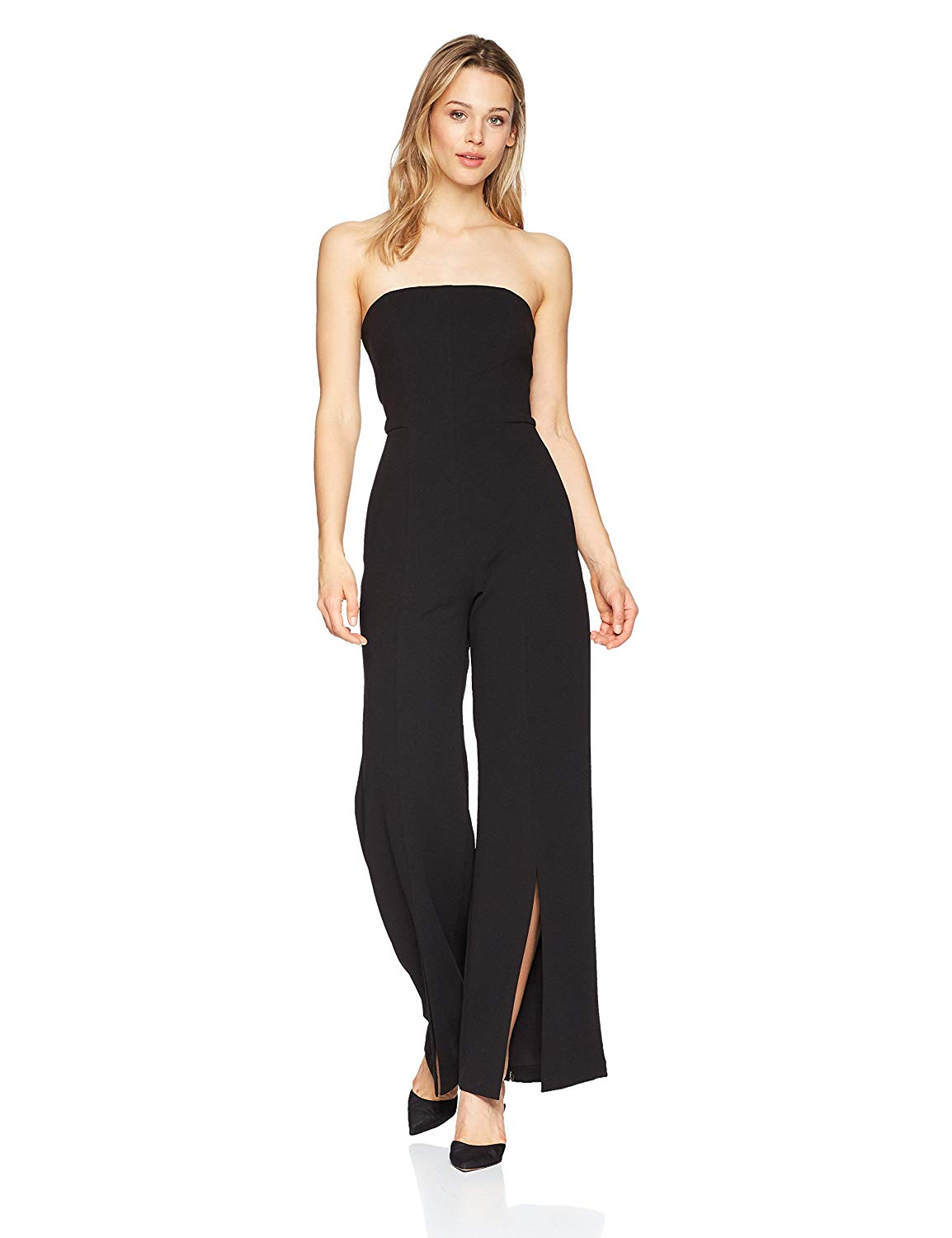 74be78f4aef9 Get Quotations · Donna Morgan Women s Strapless Crepe Jumpsuit