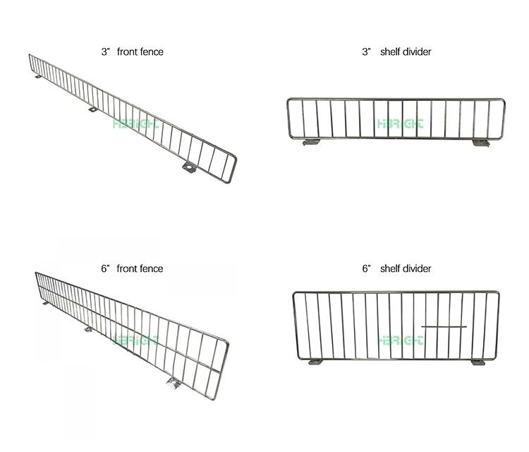 Gondola Universal Wire Front Fence Riser Chrome Shelf