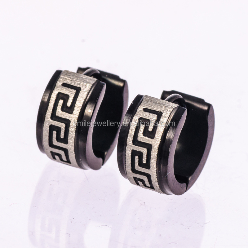 Black Great Wall HIP HOP Stainless Steel Earrings
