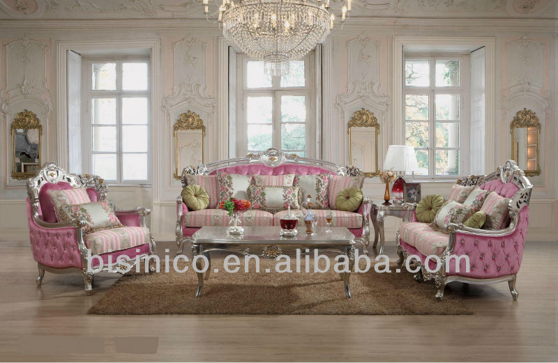 Luxury Living Room Furniture Ornate European Royal Style Sofa Sets Elegant Clic French Antique