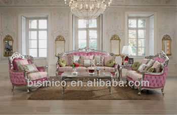 Luxury Living Room Furniture, Ornate European Royal Style Sofa Sets