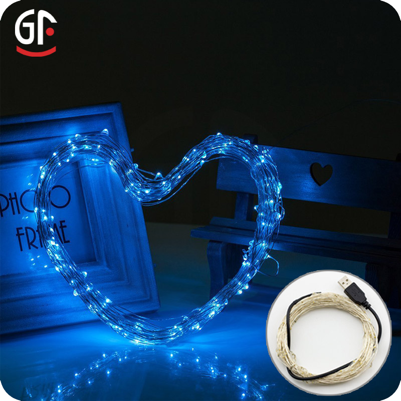 10M 100 LEDs USB Led Copper Wire String Lights Used For Festival Wedding Party LED Christmas Tree Lights