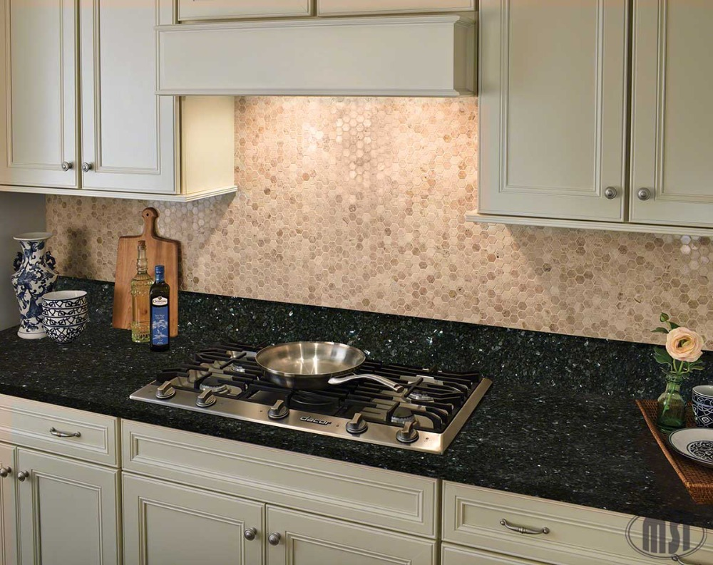 China Manufacturer Natural Stone Black Pearl Kitchen Countertops Black Galaxy
