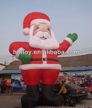 Newest Big Santa Claus Inflatable Cartoon Advertisement Christmas  Decorations