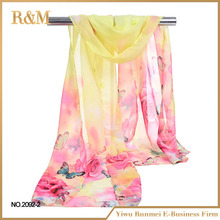 Factory Popular special design silk foulard scarf with good price