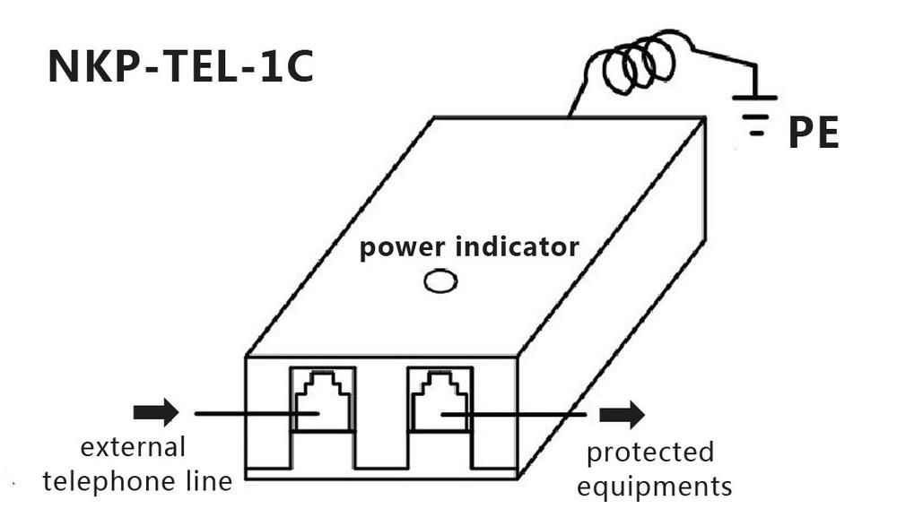 rj11 telephone line surge protection  adsl surge protection