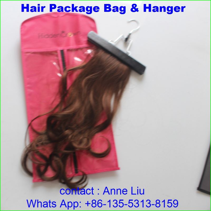 juancheng huanyu hair products factory package bag and hanger