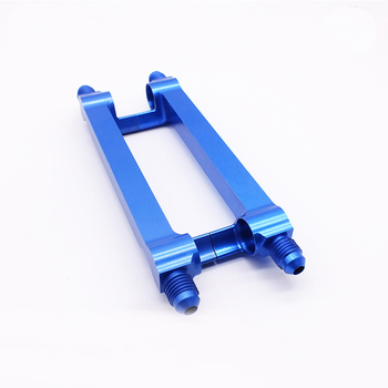 Customized OEM Precision Aluminum 6061,6063,7075 Blue Anodized CNC milling Mount Bracket in dongguan