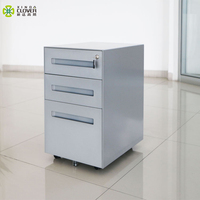 3 drawer key cabinet modern mobile pedestal office filing cabinet with key lock