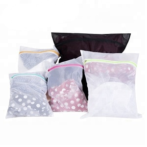 Set of 5 Convenient Durable Breathable polyester Travel Mesh Delicate Laundry Bags