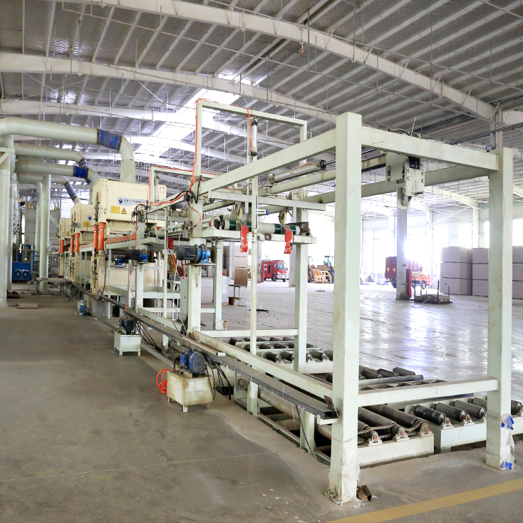 automatic cooling system for particle board production line