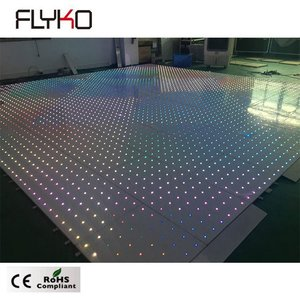 Beautiful wedding newest 60*60cm wireless full color led star dance floor