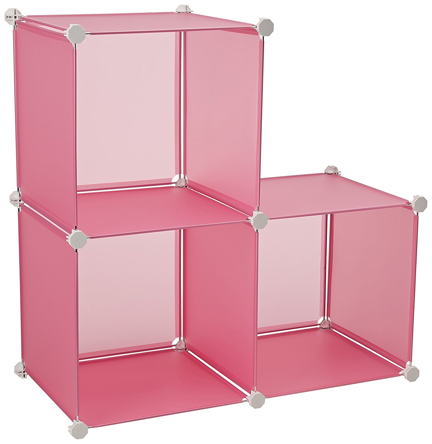 ... Stackable · Honey Can Do SFT 02166 Plastic Storage Cubes, 3 Pack,