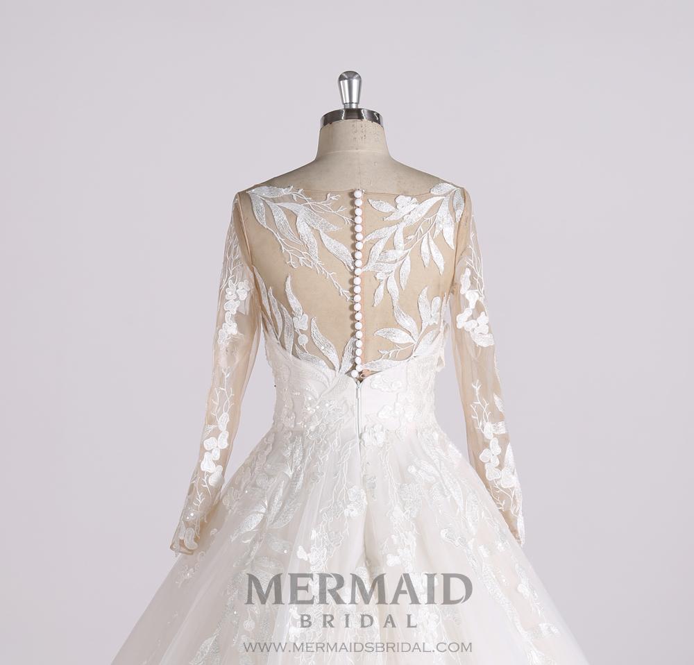 Terbaru Desain Gaun Pengantin Pengadilan Kereta Dubai Hot Couture Wedding Dress Dengan Lengan Panjang Buy Dubai Wedding Dress Hot Couture Wedding