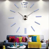2017 Extra large clock Pvc sticker wall clocks