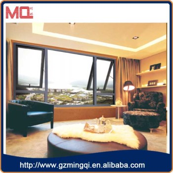 aluminium awning window hung window casement window in Guangzhou mingqi