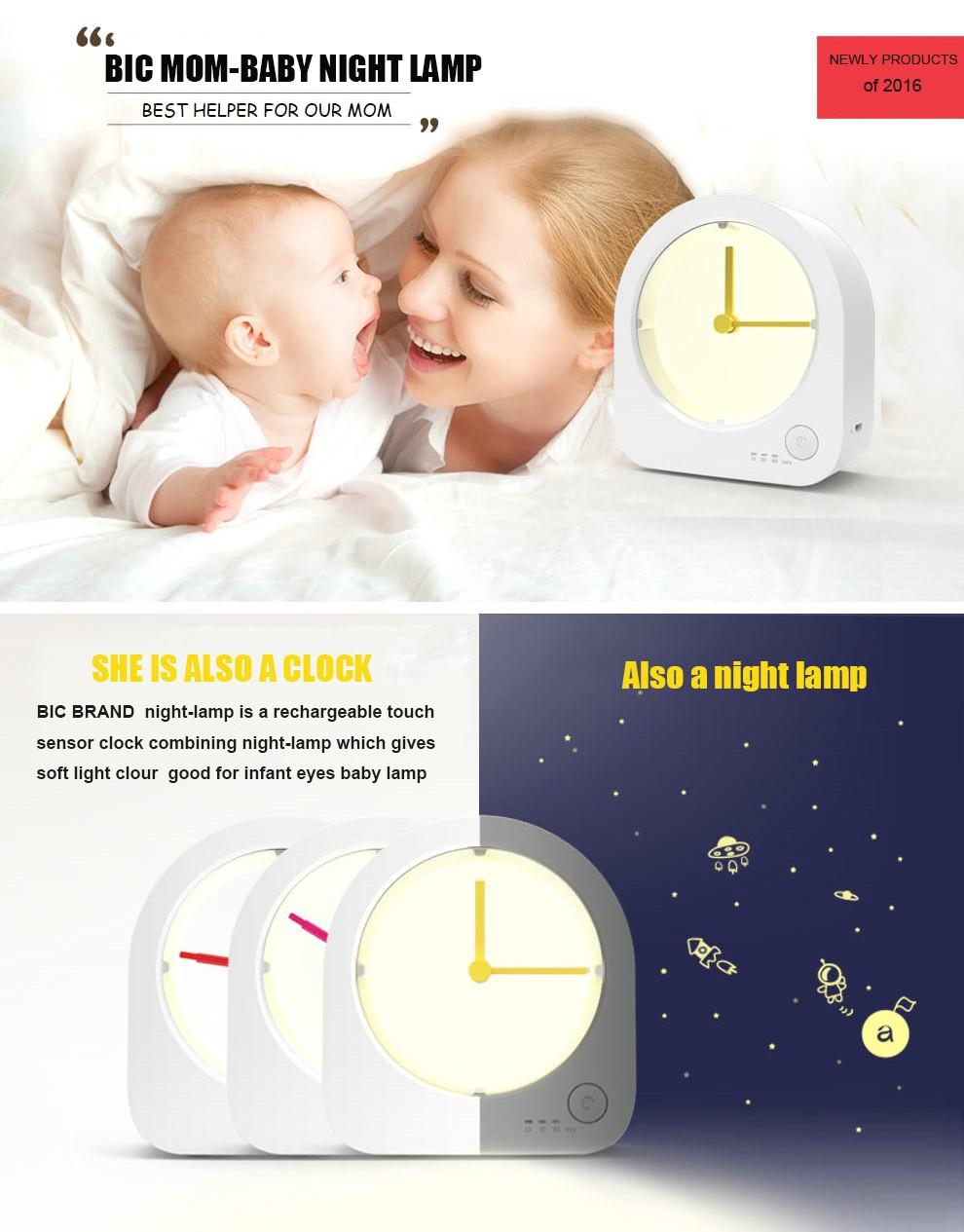 Cute Clock Led Night Light Decoration Lamp Infant Baby Kids Sleep ...