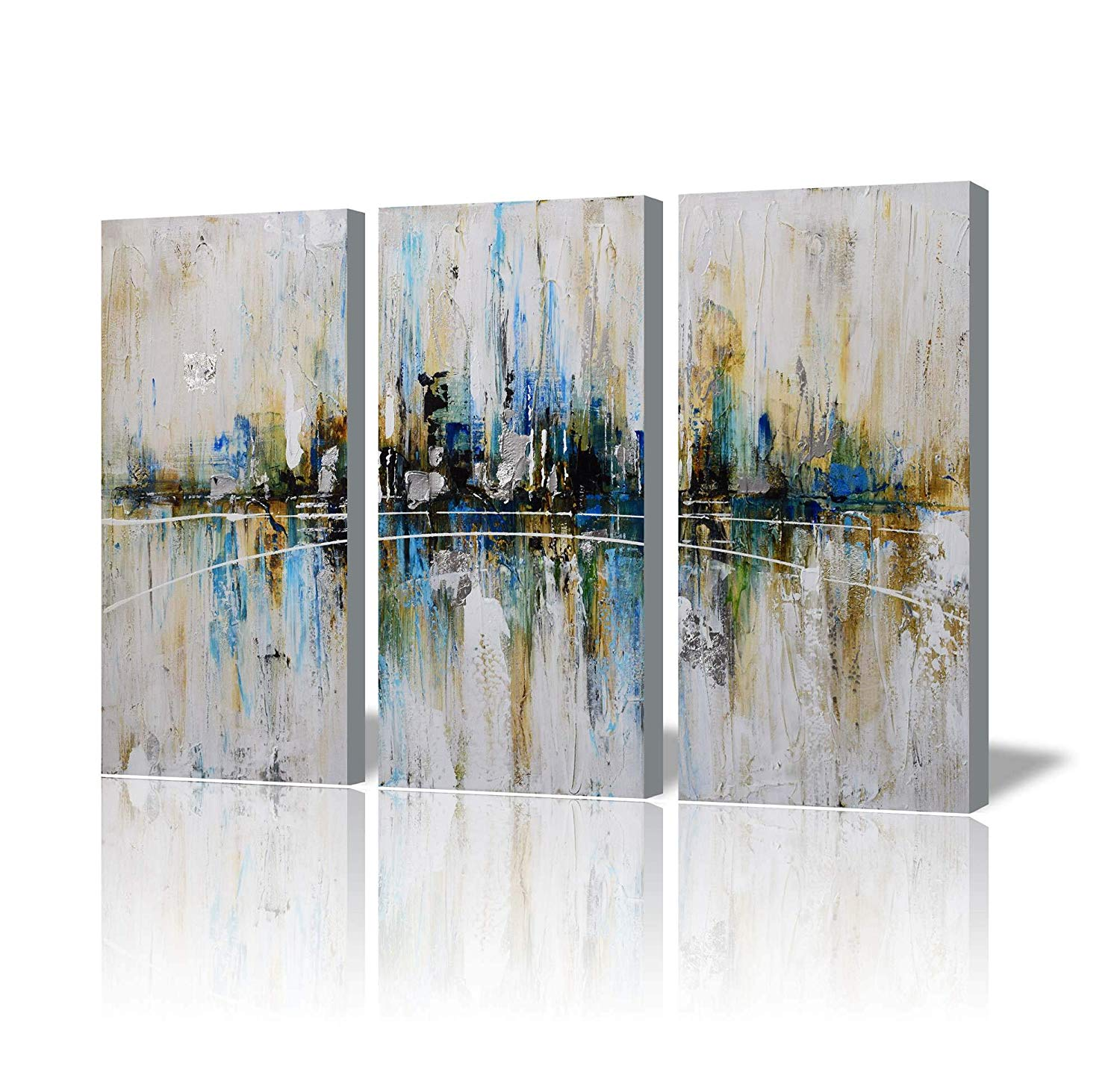 Get Quotations Artland Canvas Wall Art Living Room 3 Piece Pictures Ready To Hang Decorations Home