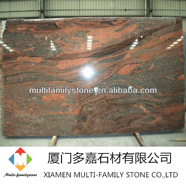 High quality polished juparana india imperial gold granite slab