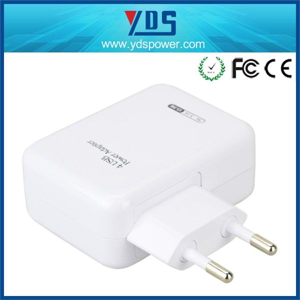 Factory CE multiple 4 port usb charger wall travel charger for phone/tablet