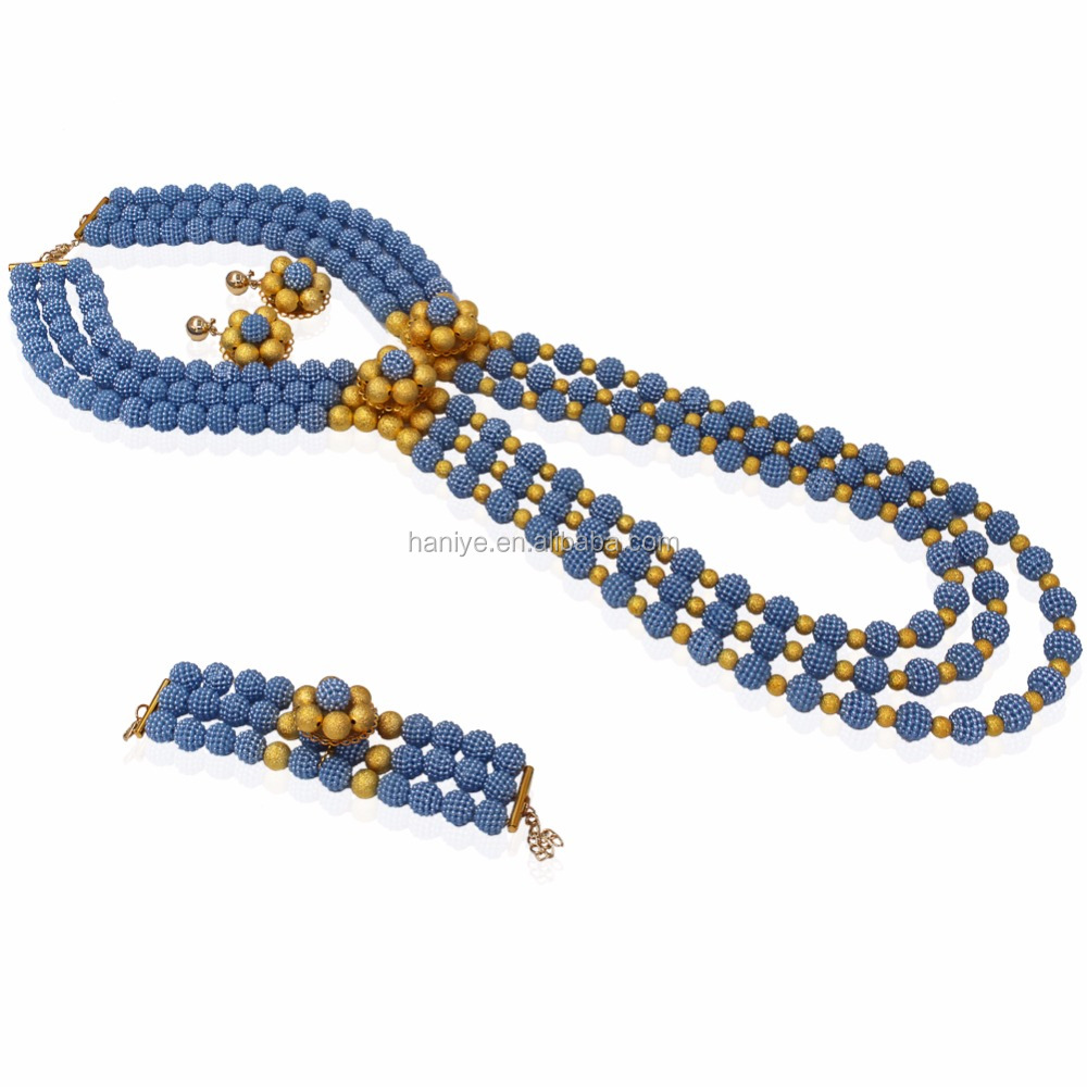 fashion beads african set necklace detail sets jewelry artificial high product latest settings diamond big party bridal design