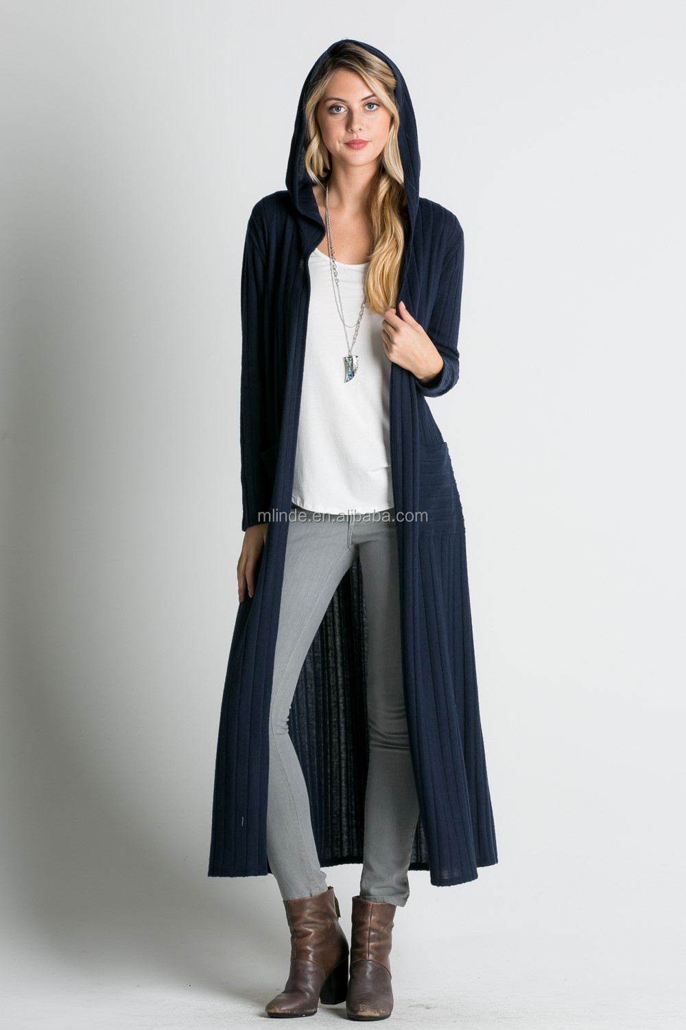 Women Cardigan Autumn 2017 Ribbed Knit Polyester Rayon Spandex ...