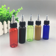 new designed twist cap pen shape unicorn bottle 30ml 50ml 60ml 100ml 120ml pet bottles plastic bottle twist top cap
