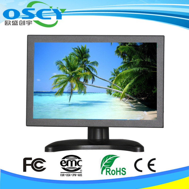 10 inch Metal Case CCTV Monitor 1080P,car tv monitor with usb