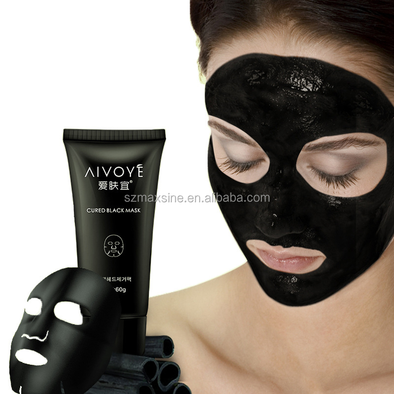 Bamboo Charcoal Nose Blackhead Remover Deep Clean Purifying Acne Peel Off Black Mud Face Mask