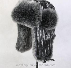 9f070a496 Winter Trooper Trapper Hat Faux Fur Ear Flap Bomber Ushanka