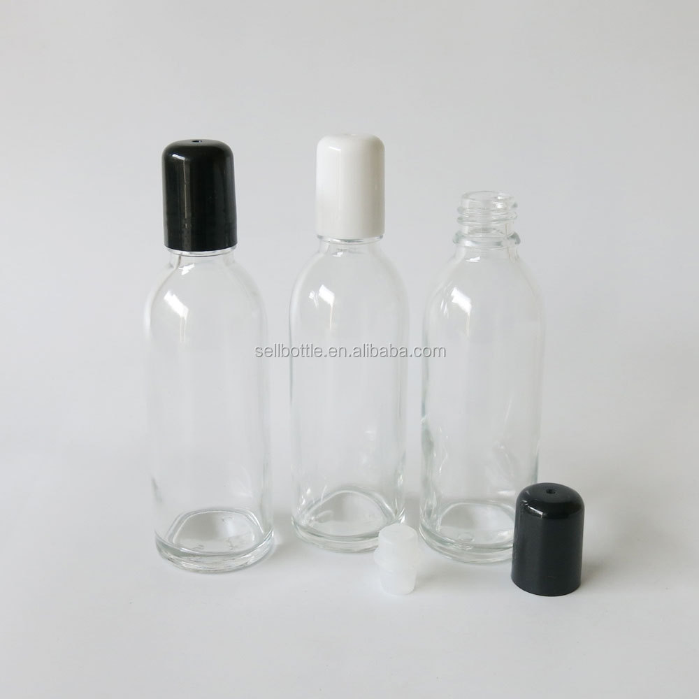 Taobao hot sale clear glass roll on bottles perfume essential oil use container