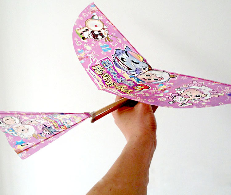 how to make rubber band flying bird