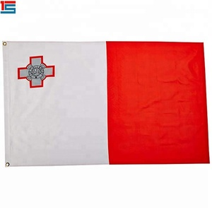 Promotional advertising red white color plain Malta country flag