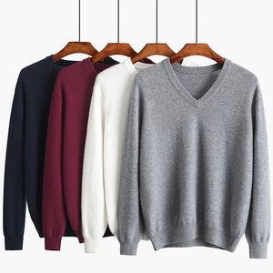 OEM service V neck 100% Merino men pullover