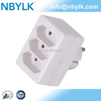 portable adapter 16A DE plug to 2.5A DE 3 sockets multiple power adapter German type YLK-GA-01/3