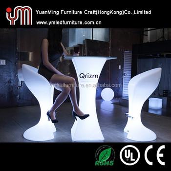 Merveilleux Modern Plastic Furniture Cocktail Table/Led Bar Furniture/Led Furniture
