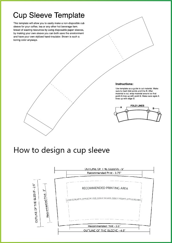 coffee cup wrapper template - magnificent cup wrapper template component example