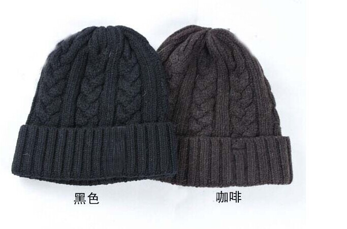 Get Quotations · 2015 Korean version of the fall and winter warm hat  knitted wool stone cap influx of ca7bc9617709
