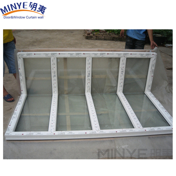 Seamless 90 Degree Corner Window Pvc Frame Reinforced