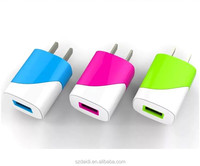 Colorful Wall USB Charger Folding 5V 1A USB Wall Charger Power Adapter For iphone