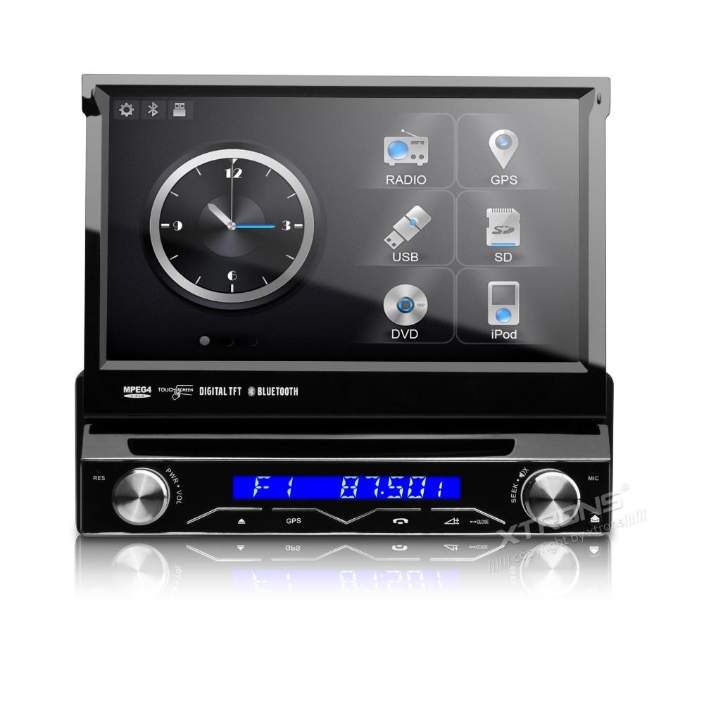 7 1 din car dvd gps player with detachable panel radio. Black Bedroom Furniture Sets. Home Design Ideas
