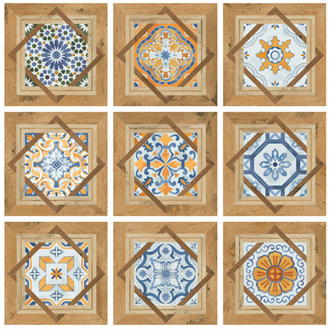 Decorative indian handmade tiles pattern floor tile buy for Deck tiles india