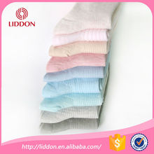 China socks factory supply womens solid colo cotton socks lady crew socks