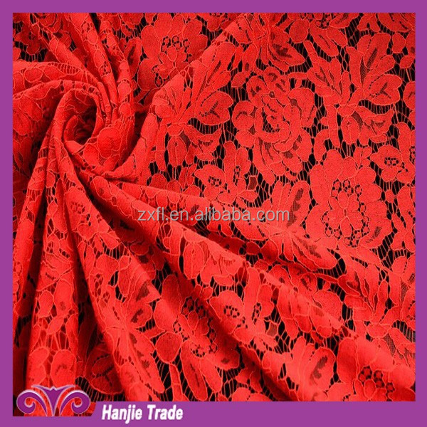 Wholesale Custom Burst sells Dress Making Bridal Floral Lace Fabric