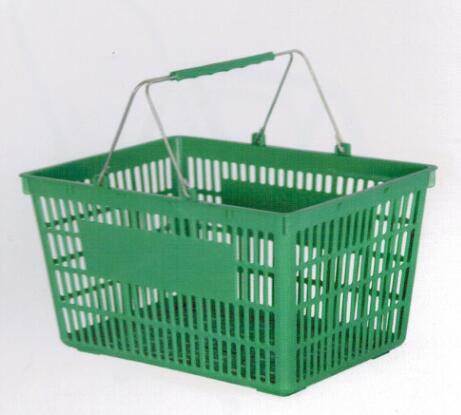 Small Luxury Plastic Shopping Basket with Double Handle Hand Basket