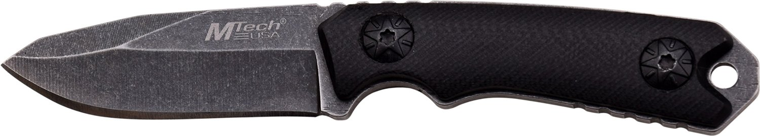 MTECH USA MT-20-30 Series Fixed Blade Neck Knife, Drop Point Blade, G10 Handle, 4-3/4-Inch Overall